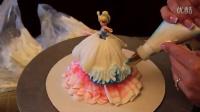 奶油裱花蛋糕之复古风芭比娃娃蛋糕制作