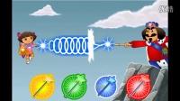 《爱探险的朵拉历险记》★爱探险的朵拉拯救水晶王国★朵拉寻找三颗水晶学英语!4399小游戏