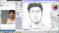 手绘 NBA球星安东尼戴维斯