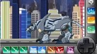 组装机械装甲剑齿虎,变形机车,拼装玩具,快乐游戏吧.