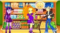 搞笑紫悦梦见阿坤变成了一头恶狼海妖变成了紫悦动画视频, 紫悦想和帅哥阿坤结婚动画片5