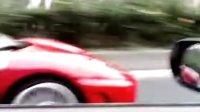北京实拍法拉利追击GTR