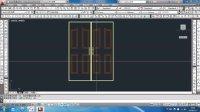 CAD三维建模实例-门 第五节【共5节】