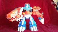 小津的变形金刚玩具视频—变形金刚救援机器人系列暴龙擎天柱