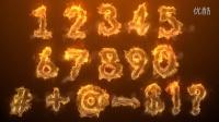 100033-超炫粒子数字特效动画AE模板