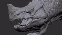 【ZBrush雕刻】神一般的写实怪物模型展示