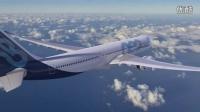 空客A330neo增强型客机3D效果图