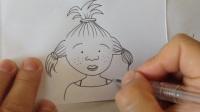 手绘卡通.小女孩头像