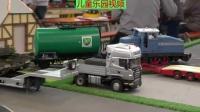 大卡车工程车推土机勾机赛车玩具遥控车游戏表演视频