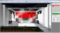 lightingstudio2015企业版软件连接实体老虎TT灯光控台.wmv