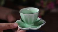 本土久久龙泉青瓷——精品莲花杯垫