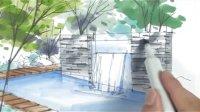 陈马扶老师 园林景观手绘(二)-广州疯狂手绘培训视频教程