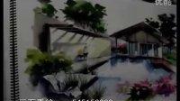 三石手绘 建筑景观手绘马克笔表现