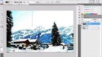 PS教程 制作淡彩钢笔画效果8.10