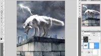 PS教程每日一教PS打造暴风雨中的狼