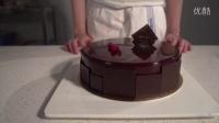 蔻琦法日式甜品工作室作品:法式黑巧克力覆盆子慕斯蛋糕