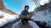 冬天骑自行车去山脚下打水(天然山泉水)
