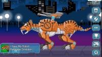 恐龙时代乐高变形金刚系列#组装机械虎超能老虎:儿童成长游戏视频