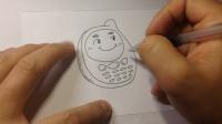 卡通简笔画.可爱手机的画法