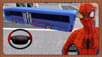 蜘蛛侠赛车总动员★公交巴士停靠技巧练习★闪电麦昆的大师兄开车