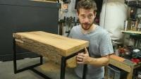 【木工DIY】用原木制作一张长凳