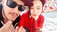[韩国户外女主播]韩国故宫内跳舞偶遇外国人欧巴